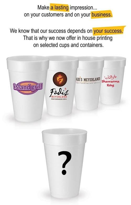 Foam Cup Printing Flyer